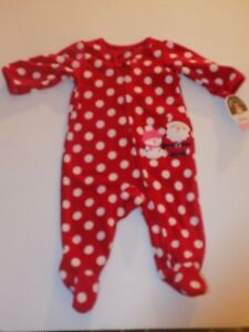 3c4e4c84c Child of Mine Made by Carter s Polka-Dot Christmas Pajamas Size 0-3 ...