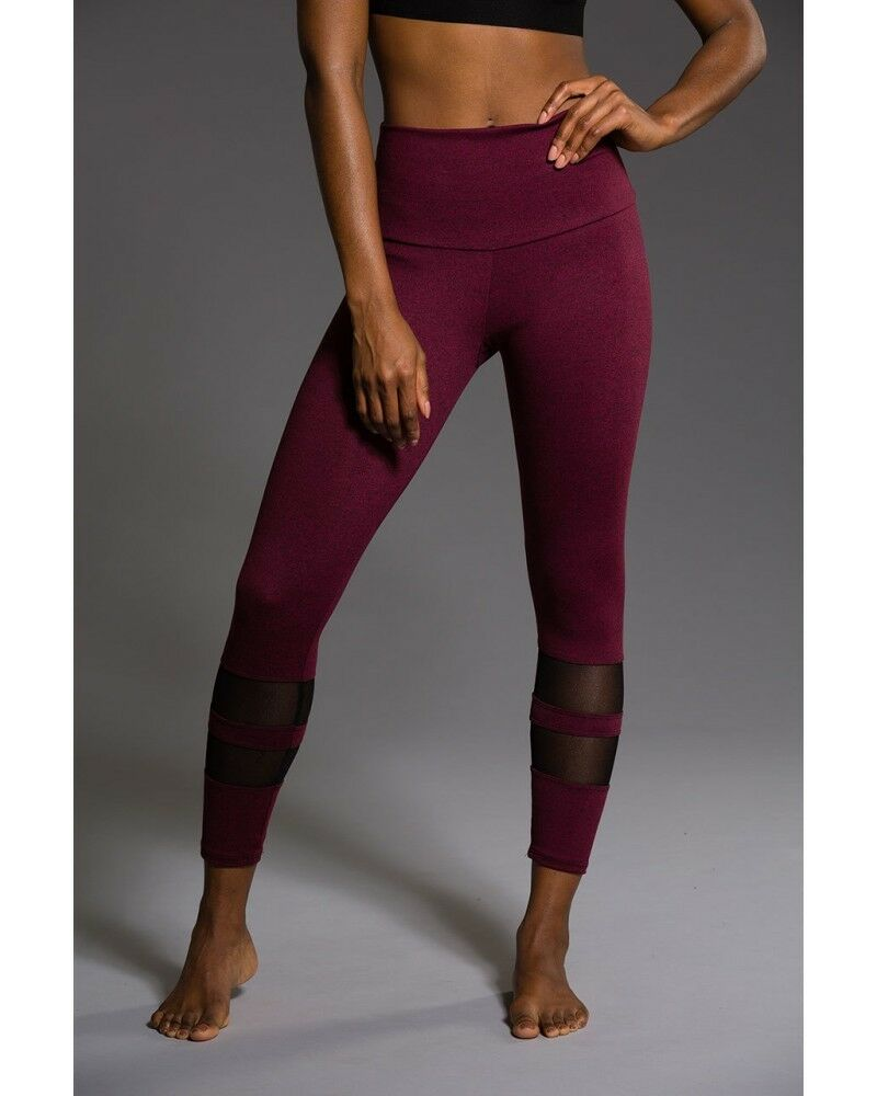 Onzie Midi Racer Leggings 2028 Burgundy
