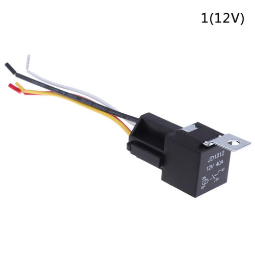 1 Pair 12V 24V 40A Auto Automotive Relay Socket 40 Amp Relay /& Wire X/_L