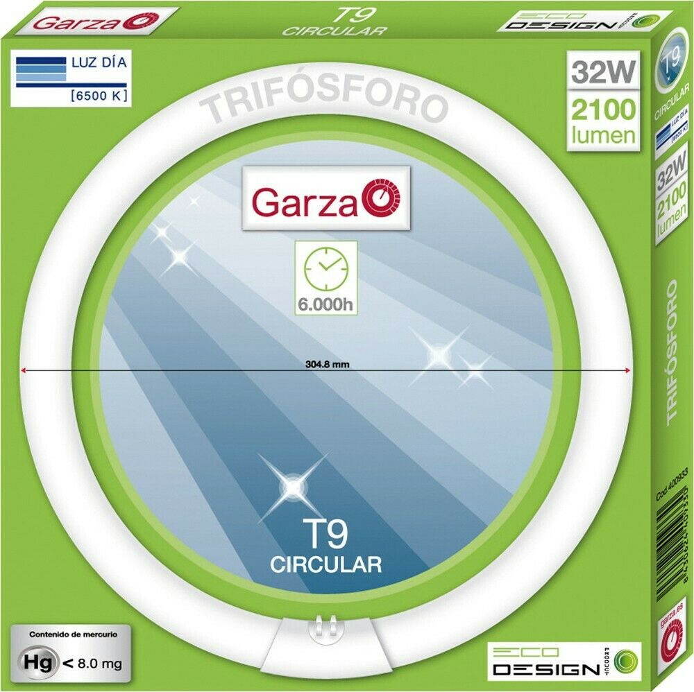 Garza Lighting - Tubo Fluorescente Circular T9 Trifósforo, 32 W