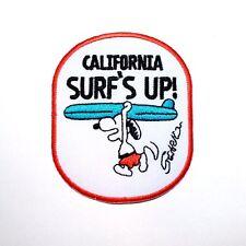 Snoopy California Surf Cute funny Dog Sleepy Cartoon Backpack Shirt iron Patch