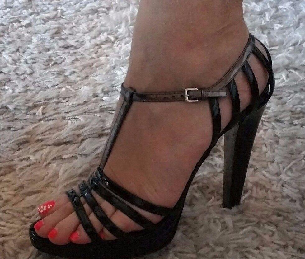 Miu Miu Calzature femmes Vernice Glamour UPC  8033586406227 noir + ANTRACITE