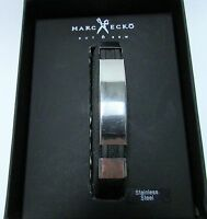 Marc Ecko Cut & Sew Men's Bracelet Stainless Steel Etched Jelly Band 8