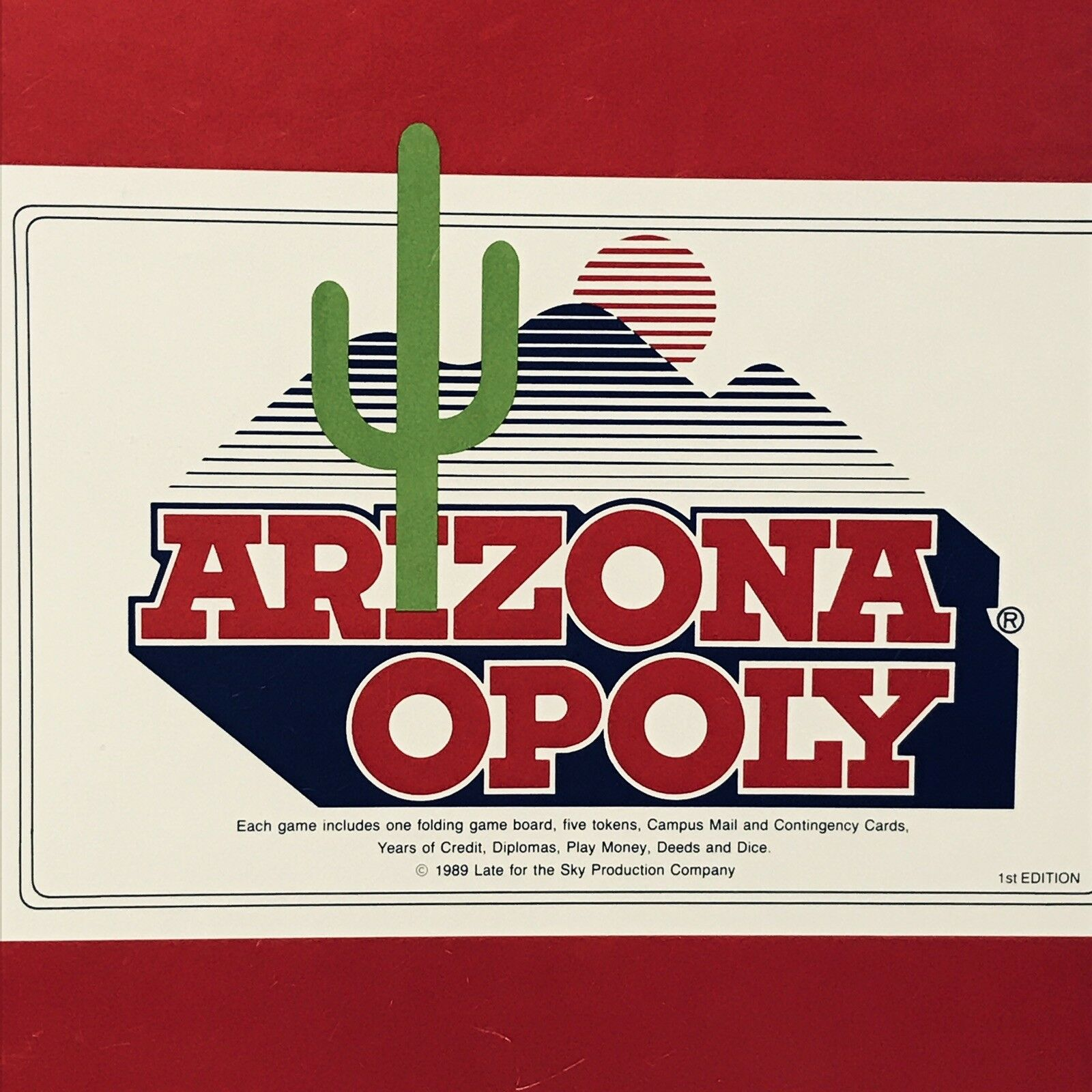 Arizonaopoly University Tucson Board Game RARE 1989 Vintage COMPLETE