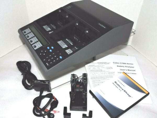 Cadex C7400 C-series Latest Version Battery Analyzer + Universal Adapters Gediversifieerd In Verpakkingen