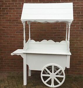 Candy Sweet Carts For White Painted Fully Collapsible Ready