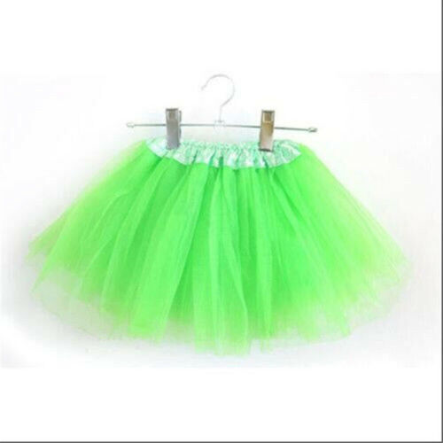 Cute Kids Girls Colorful Dance Tutu Tulle Petti Skirt Ballet Party Fancy Costume