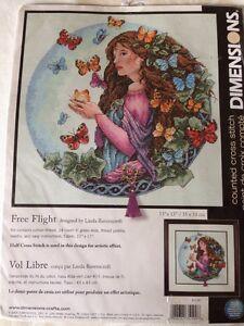 Dimensions Free Flight counted X stitch kit, Linda Ravenscroft Sealed # 35190