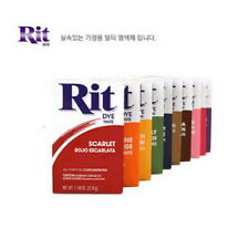 RIT DYE for Plastic & Fabric Multiple Color Powder Dye 20 Colours Dyeing