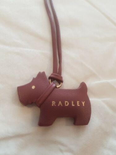 Genuine Radley en cuir rose suspendu Chien Logo Sac a Main Charm 13009