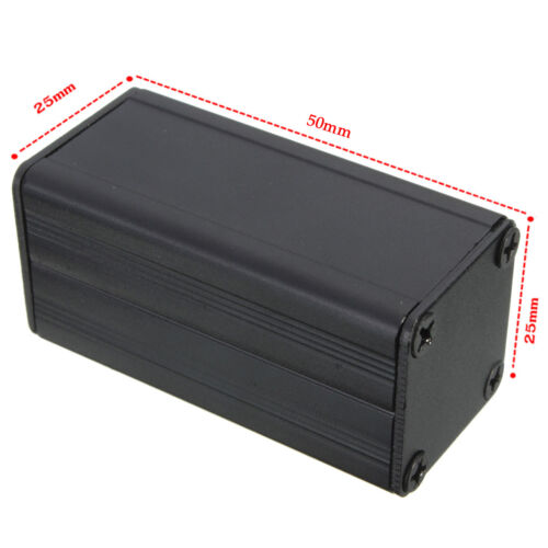 Extruded Aluminum Box Black Enclosure Electronic Project PCB DIY 50*25*25mDOYD