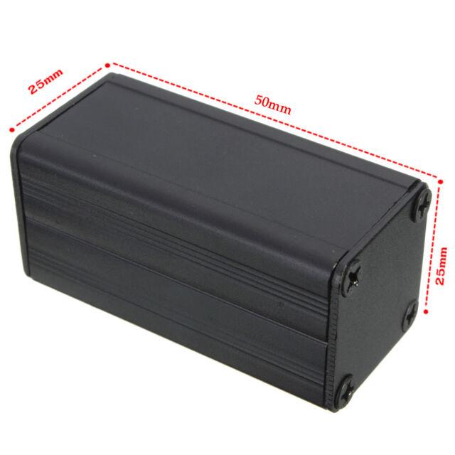 Extruded Aluminum Box Black Enclosure Electronic Project Case PCB DIY 50*25*25mm