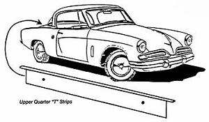 Studebaker-CK-Coupe-amp-Hawk-Upper-Quarter-T-Strip-1953-1964
