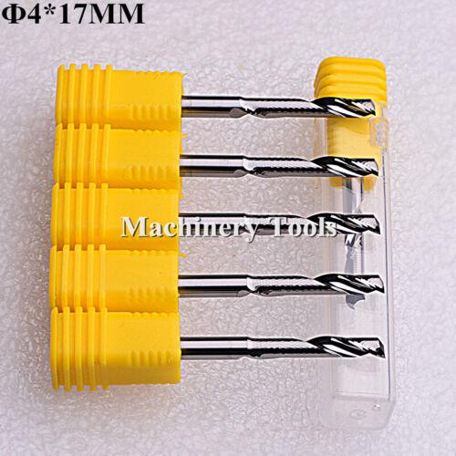 5pcs 4mm*17mm One Flute Aluminium Cutting Milling Cutter Carbide CNC Router Bit