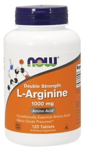 NOW Foods L-Arginine 1000mg Capsules & Tablets Amino Acid Circulation 2 SIZES
