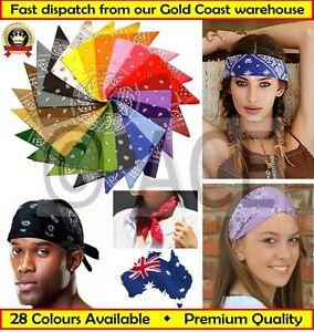 Dark Navy Bandana Paisley 100/% Cotton Head Wrap Scarf Durag Headwrap Aussie