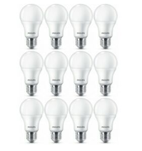 12-x-PHILIPS-LED-Lampe-E27-9W-Warmweiss-LED-Gluehbirne-wie-60W