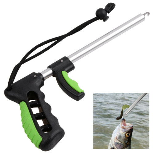 Fishing Hook Remover Fish Hook Extractor Fishing Tool F-Handle Tackle with Strap