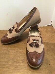 a690dca596e Alex Marie Brown   Tan Leather Loafers Tassel Wing Tip Slip Ons Size ...