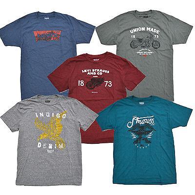 Levis T-Shirt Mens Graphic Batwing Logo Tee Crew Neck Batarang Lightweight New