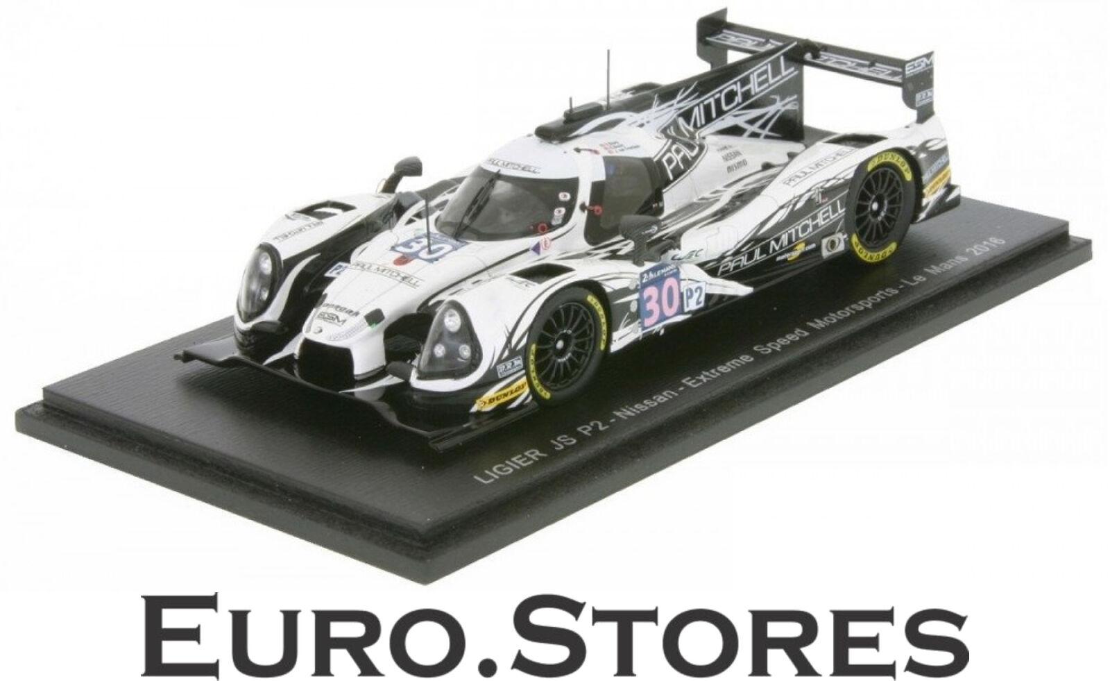 Spark Ligier JSP2 Nissan 24 H Le Mans 2018 Sharp Marrón Overbeek Coche Modelo 143