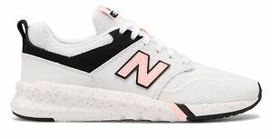Detalles acerca de New Balance de mujer 009 Zapatos Blanco Con Negro Y  Rosa- mostrar tÃtulo original