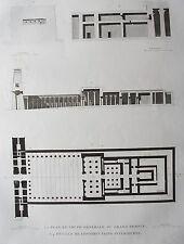 EDFOU (APOLLINOPOLIS MAGNA). (pl. 50, A. vol. I). Plan et...  DESCRIPTION EGYPTE