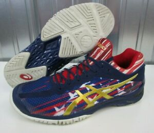 Details about NICE ASICS Gel Court FF LE American Flag USA Blue Red White Men's Shoes size 8.5