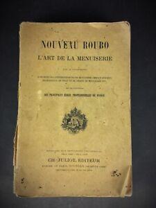 Livre Nouveau Roubo l'art de la menuiserie