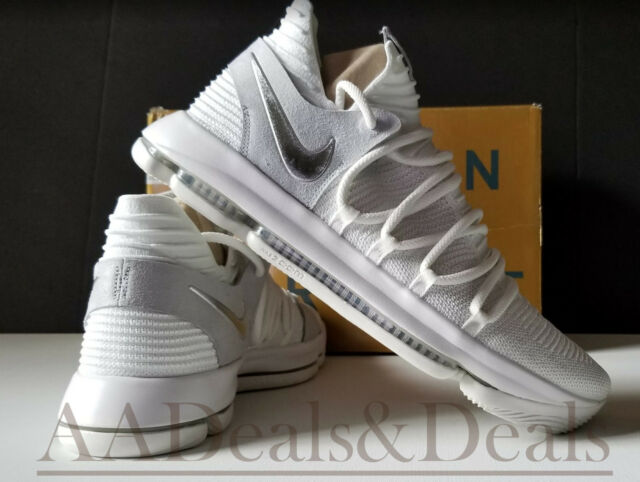 f553b37722aa New Nike Zoom KD10 White Chrome Pure Platinum Size 14 EUR 48.5 Fast  Shipping!
