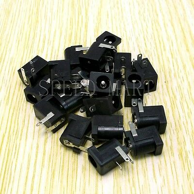 20PCS New DC Power Supply socket Jack Female Outlet Charger 5.5mm x 2.1mm DIY