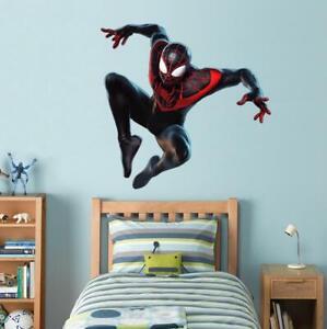 Spider Man Miles Morales Decal Wall Sticker Marvel Super Hero Bedroom WC351