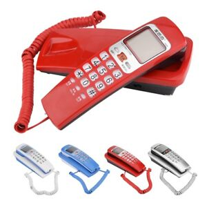 FSK-DTMF-Caller-ID-Corded-Telephone-Wall-Mounted-Home-Office-Hotel-Desktop-Phone