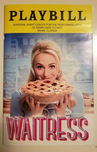 2019 Feb Brand New Waitress the Musical Playbill Broadway in Miami Shows