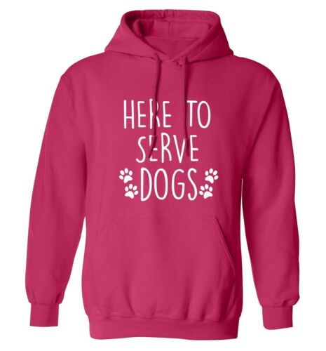 sweatshirt animal pet puppy paw fur canine love 296 here to serve dogs hoodie