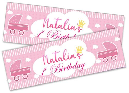 Details about  /x2 Personalised Birthday Banner Toddler Design Children Party Decoration 149