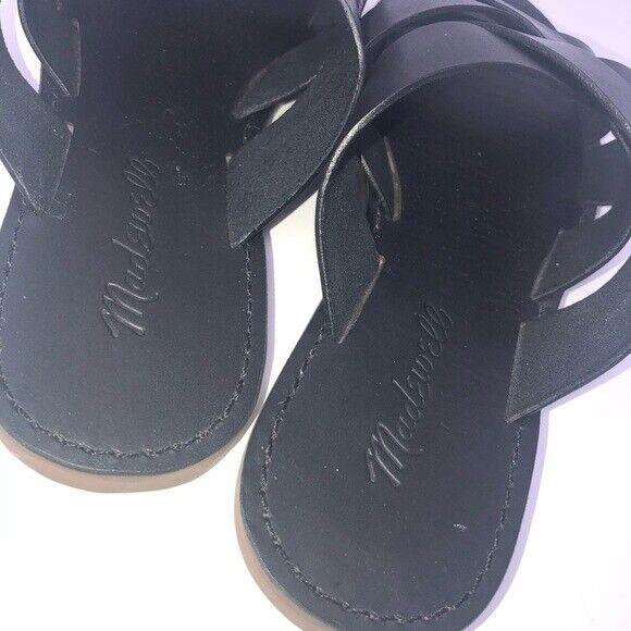 Madewell Boardwalk Woven Black Slide Women Shoe S… - image 3