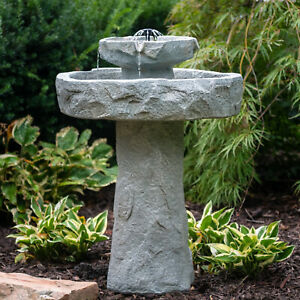 Outdoor Water Fountain Rock 2 Tier 32