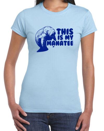 219 My Manatee womens T-shirt funny endangered species mammal ocean whale retro