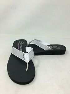 Details about NEW! Skechers Women's MEDITATION UNICORN DUST White Flip Flops #38628 H11B m