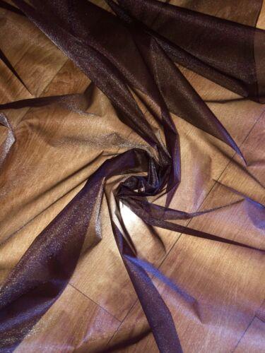 """Decoración 3 MTR Voile De Boda Organza marrón oscuro Cortina tela del vestido 58/"""""""