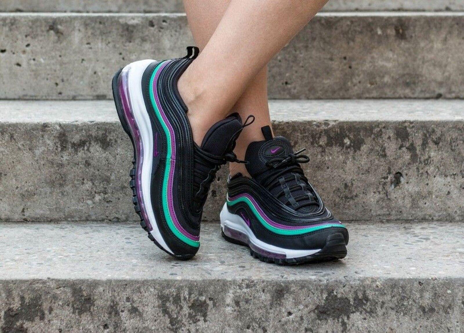 c2128f3475 Nike Air Max 97 Grape Womens 921733-008 Black Emerald Running Shoes ...