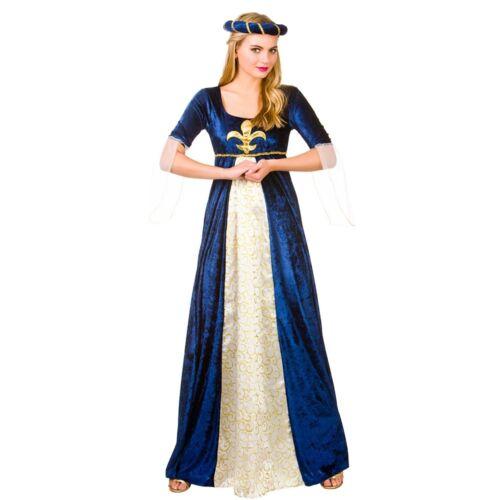 Adult DELUXE MEDIEVAL MAIDEN Fancy Dress Ladies Tudor Juliet Costume UK 6-28