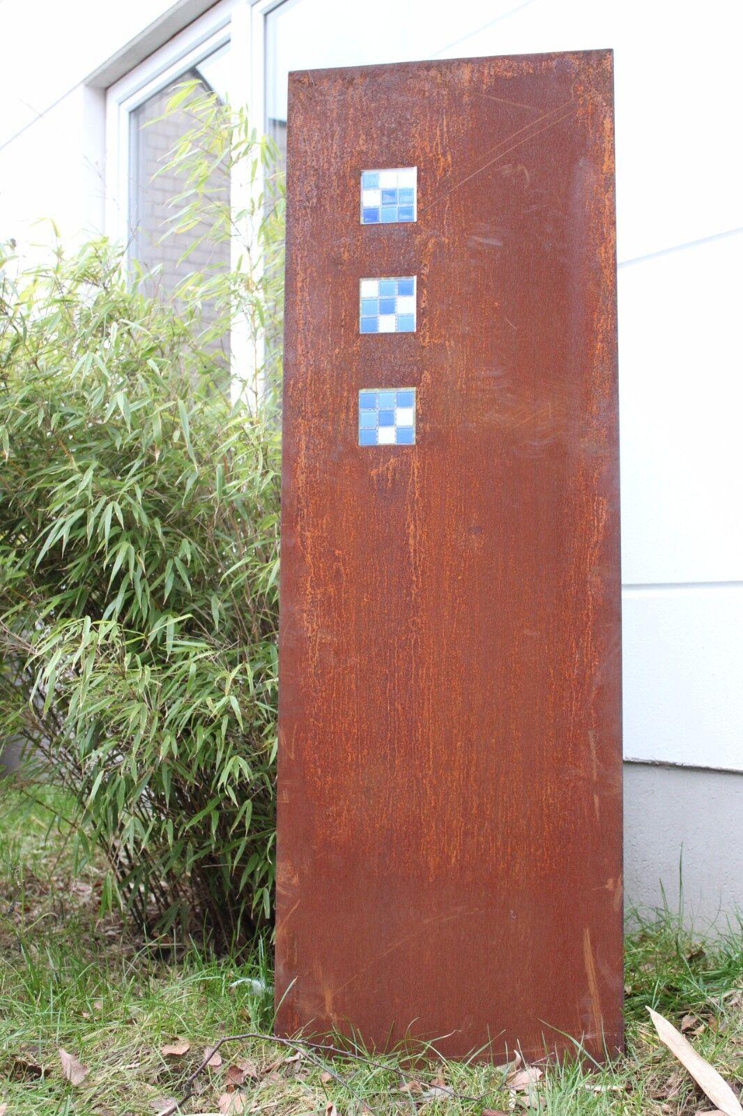 Edelrost Garten Glasdeko Sichtschutz Wand Rost Sichtschutzwand