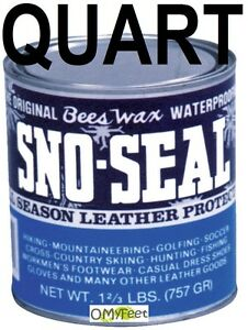 Quart Atsko SNO SEAL Beeswax Snow Rain Sun Salt Water Guard Boot Protection