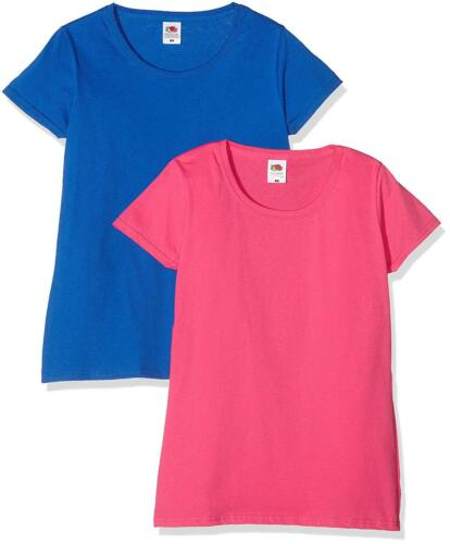 FRUIT of the Loom donna viola e blu XL T SHIRT Confezione da 2