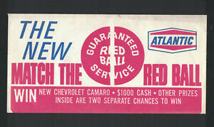 Winning Pair, Match The Red Ball, With Envelope, Atlantic Oil, 1967