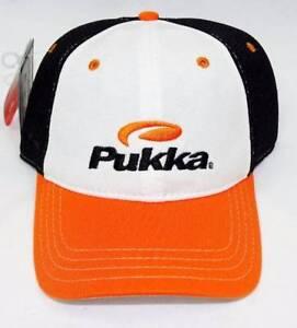 New Men s Pukka Headwear Orange Black White Performance Mesh Golf ... d002fd2ae5a