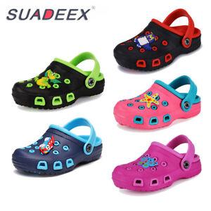 SUADEEX Boys Girls Cute Cartoon Garden Shoes Kids Sandals Clogs Beach Slippers