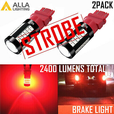 Alla Lighting 3157 LED Brake//Stop Light Bulb Lamp,Hi-Power,Bright Vivid Pure Red